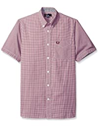Fred Perry Classic Gingham Shirt in Mahogany