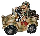 Lustige Spardose Auto Deko Soldat im Bundeswehr Jeep Flecktarn oder US Desert Camo Fun Division Neu&OVP (Flecktarn)