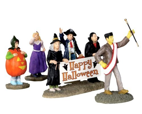Lemax 32115 Halloween Parade Banner Spooky Town Figure Set of 5 Decor Figurine by Lemax