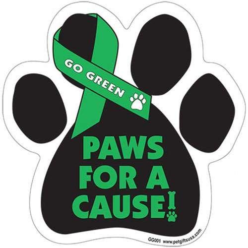 Bark für Eine Cure, Pfotenform Unterstützung Band Auto Truck & Postfach Magnet Grün