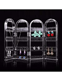 Kurtzy Clear Acrylic Folding Earring Hook Stand Display Holder and Organizer