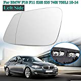 RAISSER® 1 Pair Car Exterior Parts Heated Rearview Wing Glass Mirror+Link Wire for 6/7 Series F10 F11 528i 535 740i 750Li 2010-14