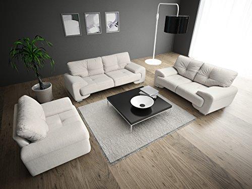 Polstergarnitur Sofa Set 3er & 2er Wohnlandschaft 3-Sitzer und 2-Sitzer Möbel Set - ENZO (Creme)