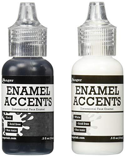Ranger Akzente-Set, Enamel, Schwarz und Weiss, Synthetic Material, Mehrfarbig, 17.8 x 10.2 x 2.9 cm -