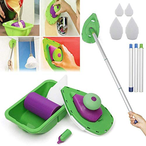 Easy Paint Pads Point Painting Roller Tray Multifunction Tool Point & Paint Easy Paint Pads Multifunction Tool and Sponge Set Kit Household DIY Painting Kit