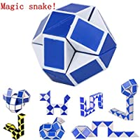 Hot Cool Snake Magic Variety Popular Twist Kids Game Transformable Gift Puzzle, Anglewolf Magic Cube Puzzles Educational Toy for Kids, Ideal Gift for Girls and Boys (24-segment section, Random A)