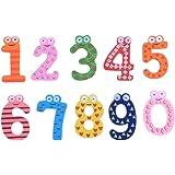 GOLDLEAF Wooden Fridge Magnet Numbers 0-9 Kids Educational Toy Baby Gift Multicolor