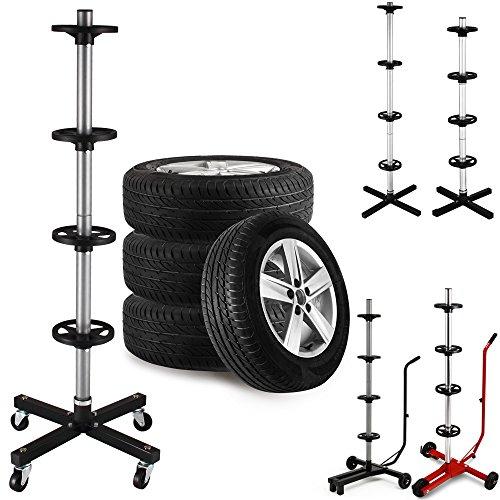 Reifenständer fahrbar mit 4 Rollen Felgenbaum Reifenhalter Felgenhalter bis 225er Reifen