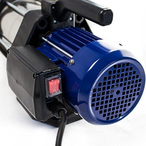 AWM 1300W Kreiselpumpe Edelstahl 5 stufige Hauswasserwerk Jetpumpe max. 5,5bar (5400 l/h) AM.1300-5SEG -