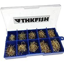 500 piezas en Caja #3~#12 carbono dorado bronce Pesca anzuelos hook