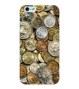 ColourCraft Antique Coins Design Back Case Cover for APPLE IPHONE 6