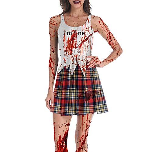 Teen Ghost Face Kostüm - Mitlfuny Halloween coustems Kürbis Hexe Cosplay