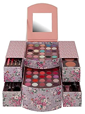 Dressing Table Vanity Case Beauty Cosmetic Set Gift Travel Make Up Storage 73 Pc - cheap UK light shop.