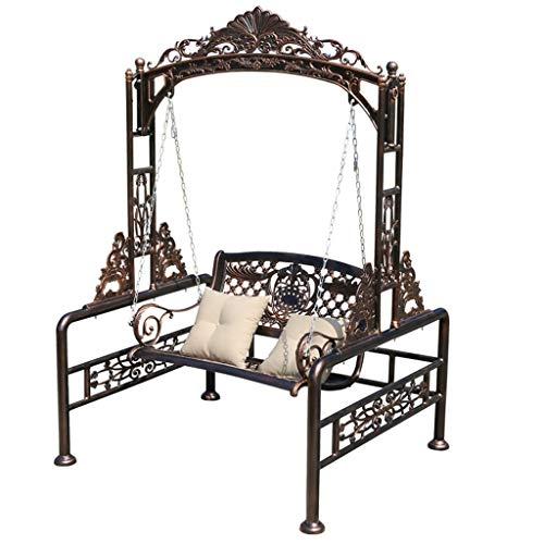 XLOO Palace, Outdoor Swing Hängesitze, Swing Glider Lounge Chair, Hollywoodschaukelbett, Aluminiumdruckguss, Edelstahlkette, super tragend, für Patio Outdoor-Schaukelsitzmöbel -