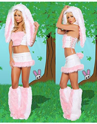 Gorgeous Die neuen Halloween-Kostüm rosa weibliche Modelle niedlichen Plüsch -Häschen geladen RPG