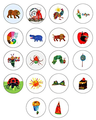 Eric Carle Collection Pinback-Button, 3,8 cm, 18 Stück -
