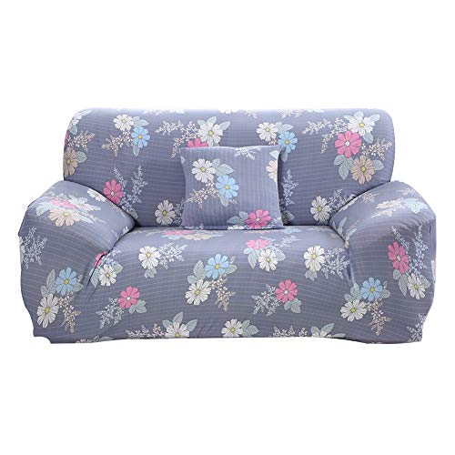 HOTNIU Copridivano Elasticizzato, Fodere Copridivani Universale, Sofa Mobili Protettore Copertura Divano Antiscivolo, Ideale per poltrone, divani, 3 Posti, Floreale #DZDC