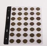 """SCHULZ 10 Blätter in der Lage zu 35 Münzen klein Größe für Münzalbum-Contabile mit: SCHULZ, OPTIMA Classic """"Leuchtturm"""""""