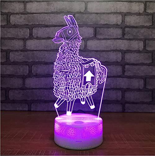 3D Led Nachttischlampen 7 Farben Spiel Nette Chug Krug Narbe Standard Mädchen Skins Cartoon Weiß Crackle Basis Lampe Burst Nacht Lampe Für Fan Beste Geschenk
