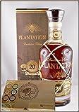 Plantation Extra Old 20th Anniversary Barbados Rum mit 45 DreiMeister Edel Schokoladen im Holzkistchen, kostenloser Versand