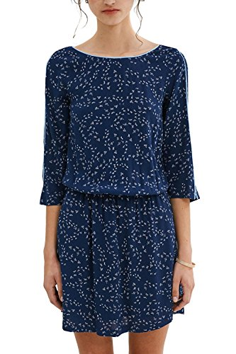edc by ESPRIT Damen Kleid 037CC1E008, Blau (Navy 400), 40