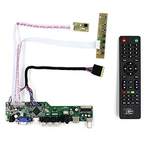 HDMI + VGA + AV + USB + RF Eingang LCD Controller Board für B156HW01 LP173WF1 15,6 \'\' 17,3 \'\' 1920x1080 40Pins LCD Panel