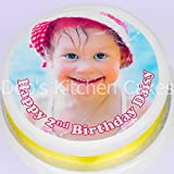 "Debs Kitchen Cakes Photo Icing Cake Topper 7.5 ""/ 19cm round made from Edible Icing"