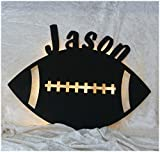 Schlummerlicht24 Football mit Name nach Wunsch ideales Led Geschenk für Footballer als Deko-Lampe zum Zimmer verschönern