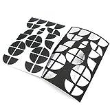 Finest-Folia 4D Carbonfolie Emblem Ecken Aufkleber (Schwarz Chrom)