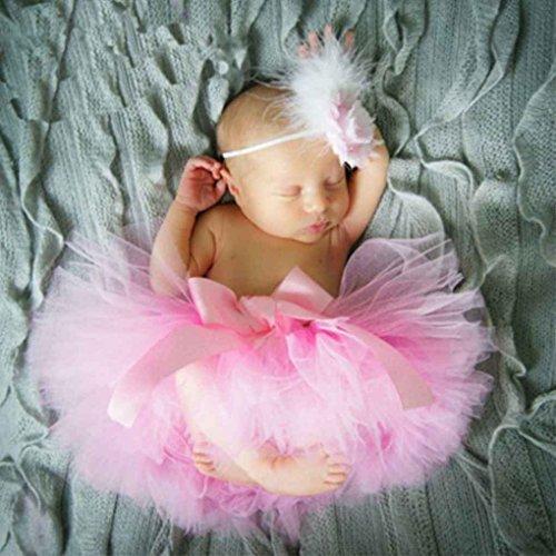 Aiming Nette Prinzessin Neugeborene Fotografie Props Baby-Kostüm-Ausstattung mit Blumen-Stirnband-Baby-Sommer-Kleid
