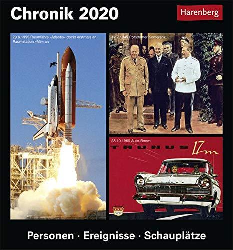 Chronik Kulturkalender. Tischkalender 2020. Tageskalendarium. Blockkalender. Format 15,4 x 16,5 cm