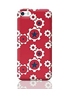 PosterGuy iPhone 5 / iPhone 5S Case Cover - Star Wheel with red Background | Designed by: Codeburnerz Technologies
