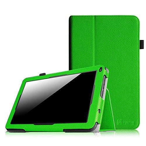 Fintie Premium Kunstleder Folio Hülle Case Schutzhülle Tasche Etui für Dragon Touch A93 9\'\' Quad Core Tablet PC Google Android 4.4 KitKat, Time2 Tablet-PC 9 Zoll - Grün