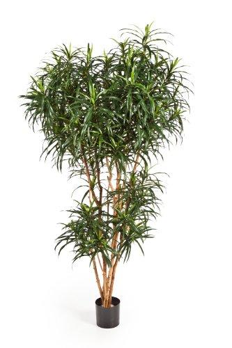 artplants – Künstliche Dracaena Reflexa Anita Katara, 1740 Blätter, grün, 180 cm – Kunstpflanze/Künstliche Palme