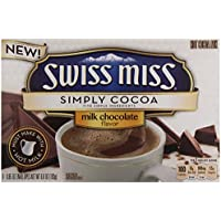 SWISS MISS SIMPLY COCOA MILK CHOCOLATE FLAVOUR HOT DRINK MIX 193g BOX