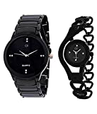 Capture Fashion Combo Of Analogue Black Stainless Steel Chain Casual Watch For Men & Women_Cp-111