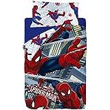 Marvel Spiderman Saco Nórdico, Algodón-Poliéster, Multicolor, Cama 80/95 (Twin), 190.0x90.0x25.0 cm, 2 Unidades