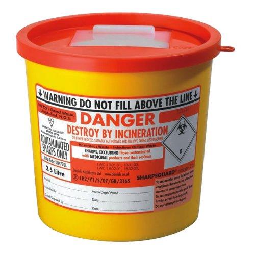 Sharpsguard arancione 2.5litri Sharps Disposal Bin