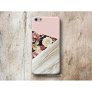 Pink Blumen Holz Print Hülle Handyhülle für Samsung Galaxy S20 S20+ S20 ULTRA S10 5G S10e S9 S8 Plus S7 S6 Edge Plus S5…