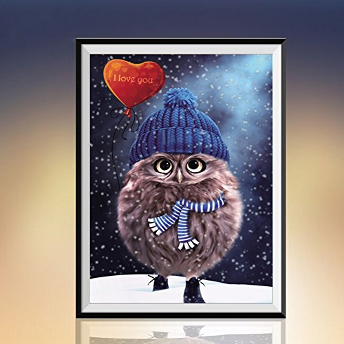 Gemini_mall® 5D Diamond Embroidery Paintings Rhinestone Pasted DIY painting Cross Stitch Rhinestone Mosaic Owl Home Room Decoration