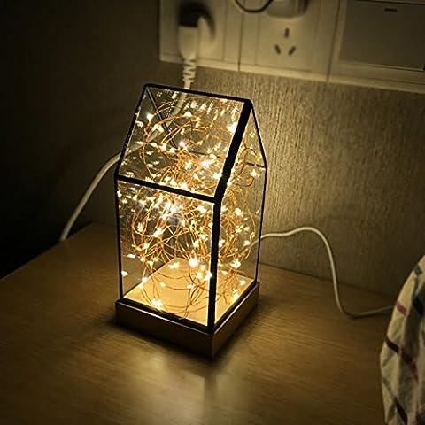Yifom personalità creative House night light star vetro vintage camera da letto illuminazione della stanza