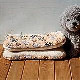 Y-GRMM Letto per Cani Caldo Invernale Coperta Morbida in Pile per Animali Domestici Lettiera per Cuccioli Cucciolo per Dormire, Zampa Gialla, 80x57 cm