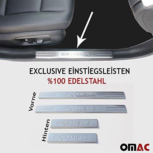 EXCLUSIVE Chrom Einstiegsleisten mit Abkantung Edelstahl V2A 4-tlg Vorne&Hinten (Mazda 6 2010 Zubehör)
