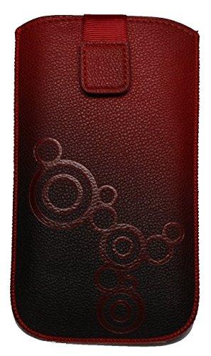 Handytasche gemustert rot-schwarz passend für
