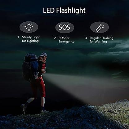 Arrancador de Coche de 18000mAh 800A Pico (8 L Gas o motores Diesel 6 L ) con Batería Externa Recargable, Arranque Kit para Coche,LED Flashlight,Con Pinzas Inteligentes,Dual USB Puertos para Smartphones,Tablets-Gris
