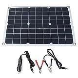 Portable Solar-Panel Autobatterie-Ladegerät 20W SunPower, Zigarettenanzünder-Stecker, Batterieladeklemme-Linie, Saugnäpfe, Batterie Maintainer für Auto Motorrad