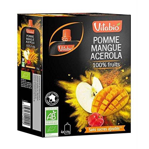 Vitabio - 100% Fruits Pomme Mangue Acérola 480G - Prix Unitaire - Livraison Gratuit En France Métropolitaine Sous 3 Jours Ouverts