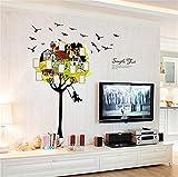 Adesivi murali camera dei bambini del fumetto altalena telaio adesivi murali camera da letto camera da letto per bambini memoria murale