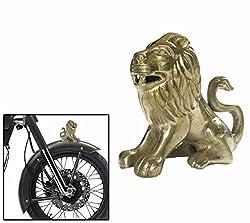 Speedwav Brass Sitting Lion Bike Front Fender Decorative-Royal Enfield-U