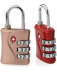 TSA Approved 3 Digit Luggage Lock Set Of 2 Piece Best For International Travelling Assorted Color & Shape